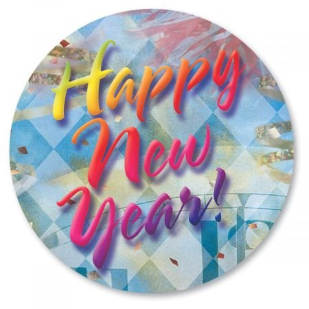 Happy New Year Envelope Seals - Set of
