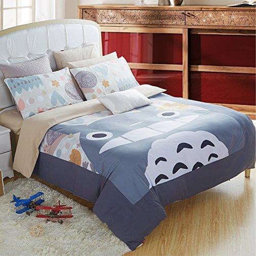 Casofu 174 Gray Totoro Bedsheet Style Bedding Set Cartoon