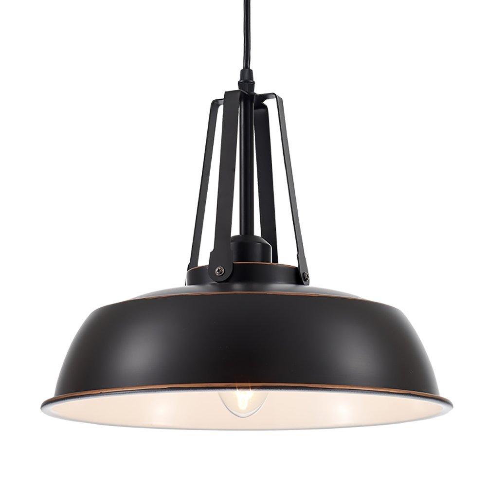 Ohr Lighting Pendant Light Fixture Industrial Hanging Brushed Cooper Black Warehouse Metal 1 Light