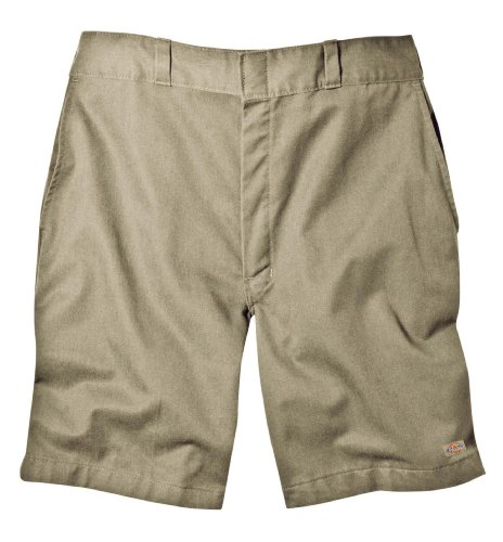 Dickies Men's Traditional Flat Front Work Short, Khaki, 32 -