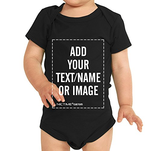 Custom Baby Shirt Black Onesie - Design Your Own Add Picture or Text Print