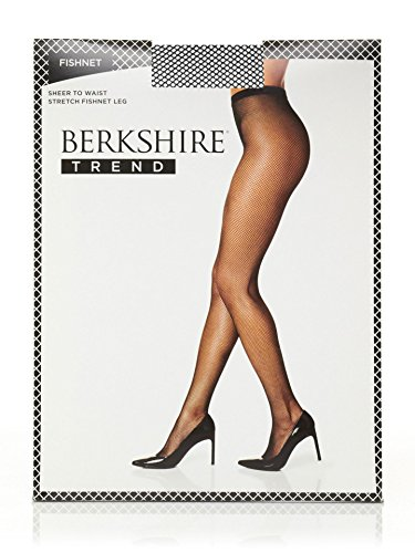Bare Pantyhose - Berkshire Women's Fishnet Pantyhose, Black, 3-4