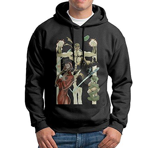 Bekey Men's Iron Fist Misty Knight Poster Pullover Hoodie Sweatshirt XL Black - Daredevil Costume Design