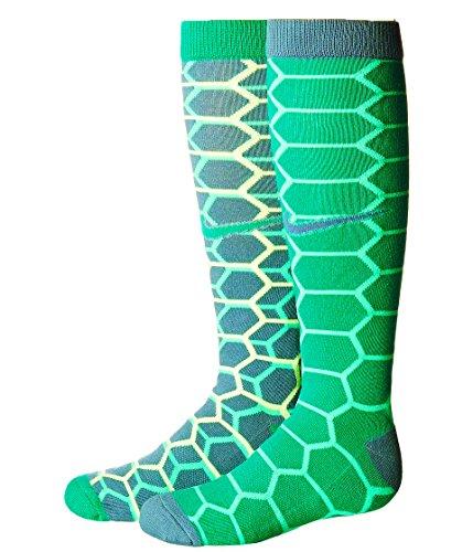 Nike Graphic Cotton Knee-high Kids Socks (2 Pair)