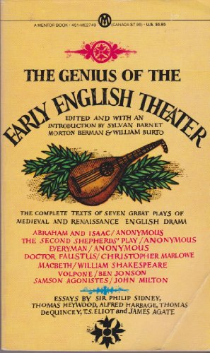 The Genius of the Early English Theatre (Mentor Series)
