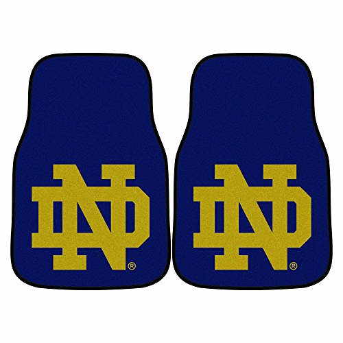 CC Sports Decor NCAA Notre Dame Fighting Irish 2-PC Set of Front Carpet Car Mats, Universal Size