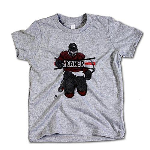 Patrick Kane NHLPA Chicago Youth T-Shirt Patrick Kane Sketch R 8 Heather Gray