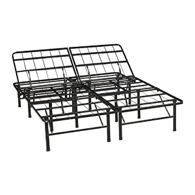 Classic Brands Adjustable Heavy Duty Metal Bed Frame/Mattress Foundation