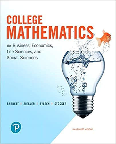 College mathematics for business economics life sciences and college mathematics for business economics life sciences and social sciences 14th edition 14th edition fandeluxe Choice Image