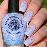 Speckled Lilac   Pale Purple Crelly Nail Polish with Lilac, Aqua and Mint Glitter   by Black Dahlia Lacquer