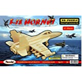 Puzzled F18 Hornet 3D Jigsaw Woodcraft Kit Puzzle