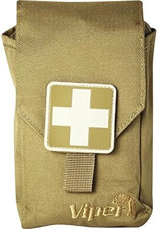 Bolsa m/édica con Set de Primeros Auxilios Viper TACTICAL Compatible con Sistema Molle