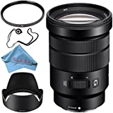 Sony E PZ 18-105mm f/4 G OSS Lens SELP18105G + 72mm UV Filter + Fibercloth + Lens Capkeeper Bundle