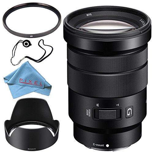 Price comparison product image Sony E PZ 18-105mm f / 4 G OSS Lens SELP18105G + 72mm UV Filter + Fibercloth + Lens Capkeeper Bundle