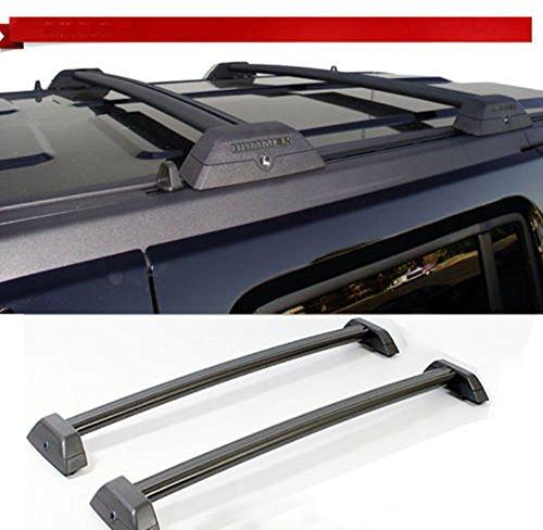r H3 H3T Black OE Style Roof Rack Cross Bars Set W/ Lock H3T Luggage Key 2006 07 08 09 10 (Hummer Roof)
