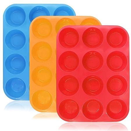 YuCool - Moldes de silicona para magdalenas, tartas, sin BPA ...