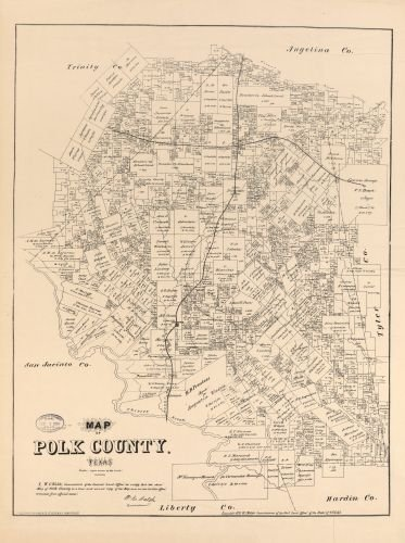 1879 Map of Polk County, Texas. - Size: 18x24 - Ready to Frame - Polk County | Texas | Polk County - Upc Wiki