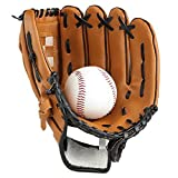 Lazy Puppy Sports & Outdoors Batting Gloves Pitcher Baseball Gloves with a Ball Softball Gloves for Children Adult
