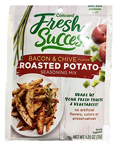 Concord Foods Roasted Potato Bacon & Chive Seasoning Mix 1.25oz Package (Value Case of 12 Packages) ()