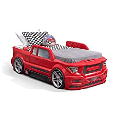 Get ready to load up on tons of bedtime fun with the Turbocharge twin truck bed by Step2. This kid's car bed features a realistic pickup truck-styled body, complete with tires, rims and vehicle decals. Keep your little one's favorite pajamas ...