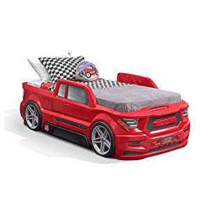Step2 Turbocharged Twin Truck Kids Bed, Red 10