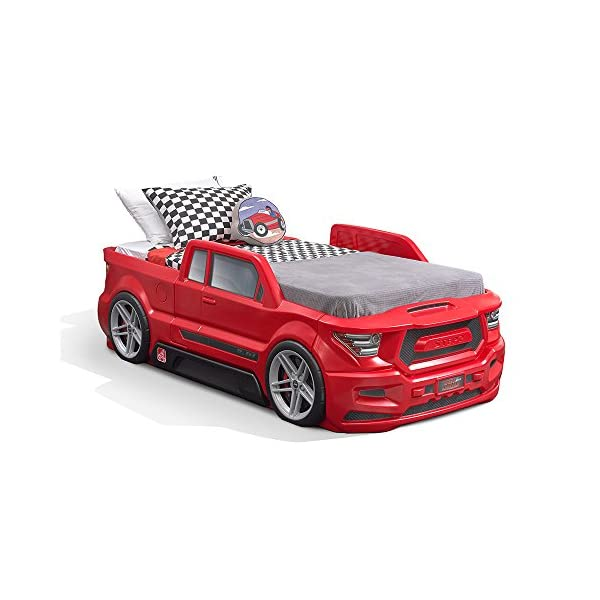 Step2 Turbocharged Twin Truck Kids Bed, Red 1