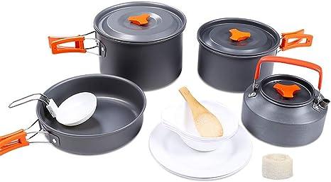 DADD Kit de utensilios de cocina para camping 4-5 personas ...