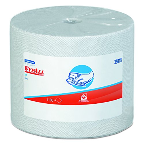 Wypall X50 Disposable Wipers (35015), Strong for Extended Use, Jumbo Roll, White, 1,100 Sheets / Roll Wypall Jumbo Roll Dispenser