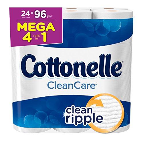(Cottonelle Clean Care Toilet Paper, Bath Tissue, 24 Mega Toilet Paper Rolls)