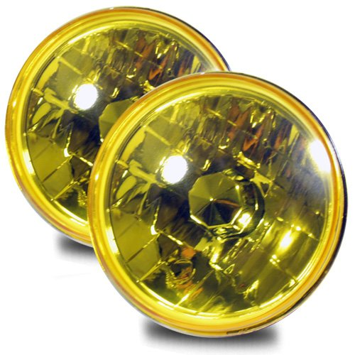yellow 7 inch headlight - 8