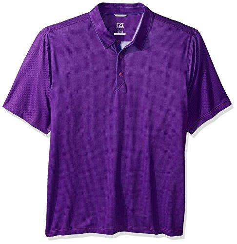 Cutter & Buck Men's Moisture Wicking Drytec UPF 50+ Print Jersey Polo Shirt, Magnetic max, X-Large -