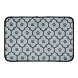 Bone Dry CAMZ36741 Large Microfiber Pet Mat, 14'' x 24'', Lattice Gray
