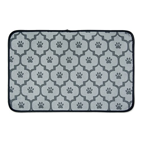 DII Bone Dry Large Microfiber Pet Mat for Food, Water, Treats, 14x24