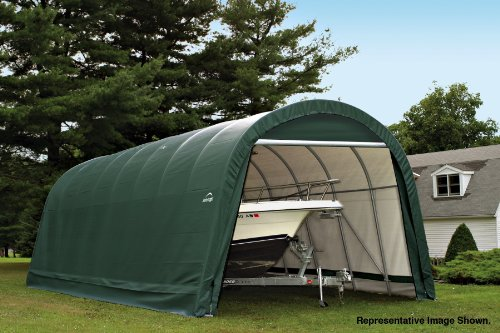 Round Style Shelter Cover in Green by ShelterLogic