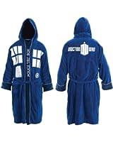 Dr. Who Tardis Unisex Cotton Terry Cloth Bath Robe, Blue, One Size