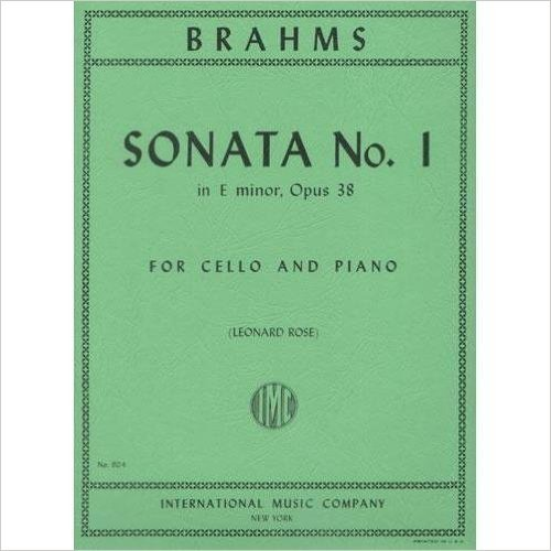 Brahms, Johannes - Sonata No. 1 in e minor Op. 38 for Cello and Piano - by Rose - International ()