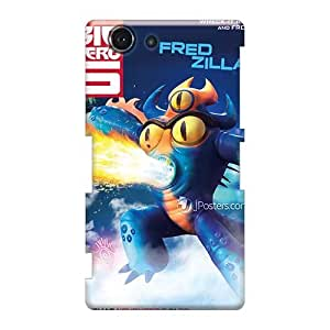 Shock-Absorbing Hard Phone Covers For Sony Xperia Z3 Mini With Support Your Personal Customized High Resolution Big Hero 6 Series AlissaDubois