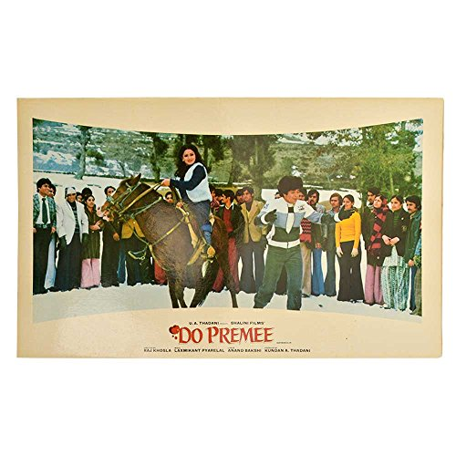 - Indian Shelf Handmade Paper Bollywood Hindi Movie Do Premee Booklet Film Posters PTR-37