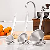 Oldeagle 3Pcs Mini Stainless Steel Funnel For All Kinds Of Hip Flasks Home Kitchen Tool