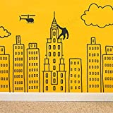 Best RoomMates Vinyl USA Boy Gifts - Doodled City Skyline wall decal | Removable room Review