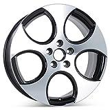 New 18'' x 7.5'' Black Finish Replacement Wheel for Volkswagen GTI Golf Jetta 2005-2013 Rim 69822 Detroit