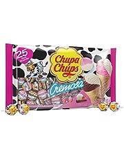 """Chupa Chups """"Cremosa"""" Flavours Lollipops Ice Cream, Ice Cream, 25 Count"""