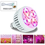LED Grow Light Bulb Full Spectrum MaxBloom B24 24W Grow Lamp for Indoor Plants Hydroponics Seedling Veg and Flower (with E27 Socket) For Sale