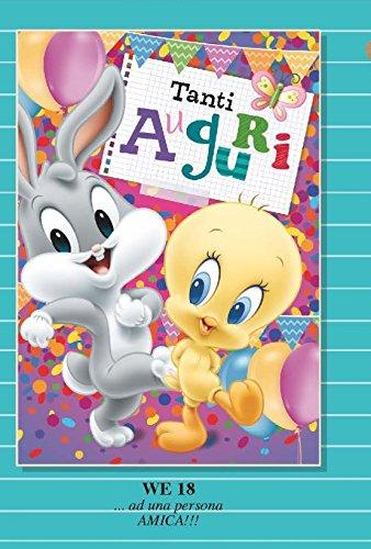 Tarjeta Felicitación cumpleaños Piolín y Bugs Bunny Baby ...