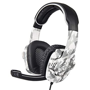 Sencillo Vida Auriculares Gaming Cascos de Camuflaje Premium Stereo con Microfono para PS4, Xbox One,PC, Laptop, Tablet, Móvil, etc: Amazon.es: Electrónica