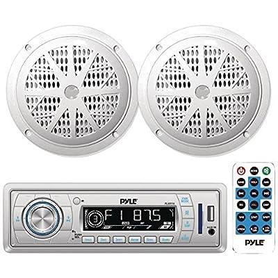 Pyle In-Dash Marine AM/FM PLL Tuning Radio with USB/SD/MMC Reader