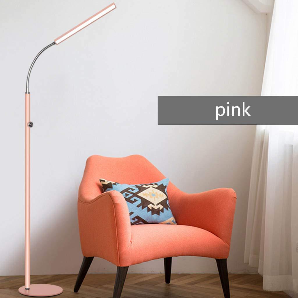 Floor Stand Lights - LED Stehlampe Wohnzimmer Schlafzimmer Studie Grünikale Tischlampe Dimmbare Leselampe - Design Fixture Lighting (Farbe   Rosa)