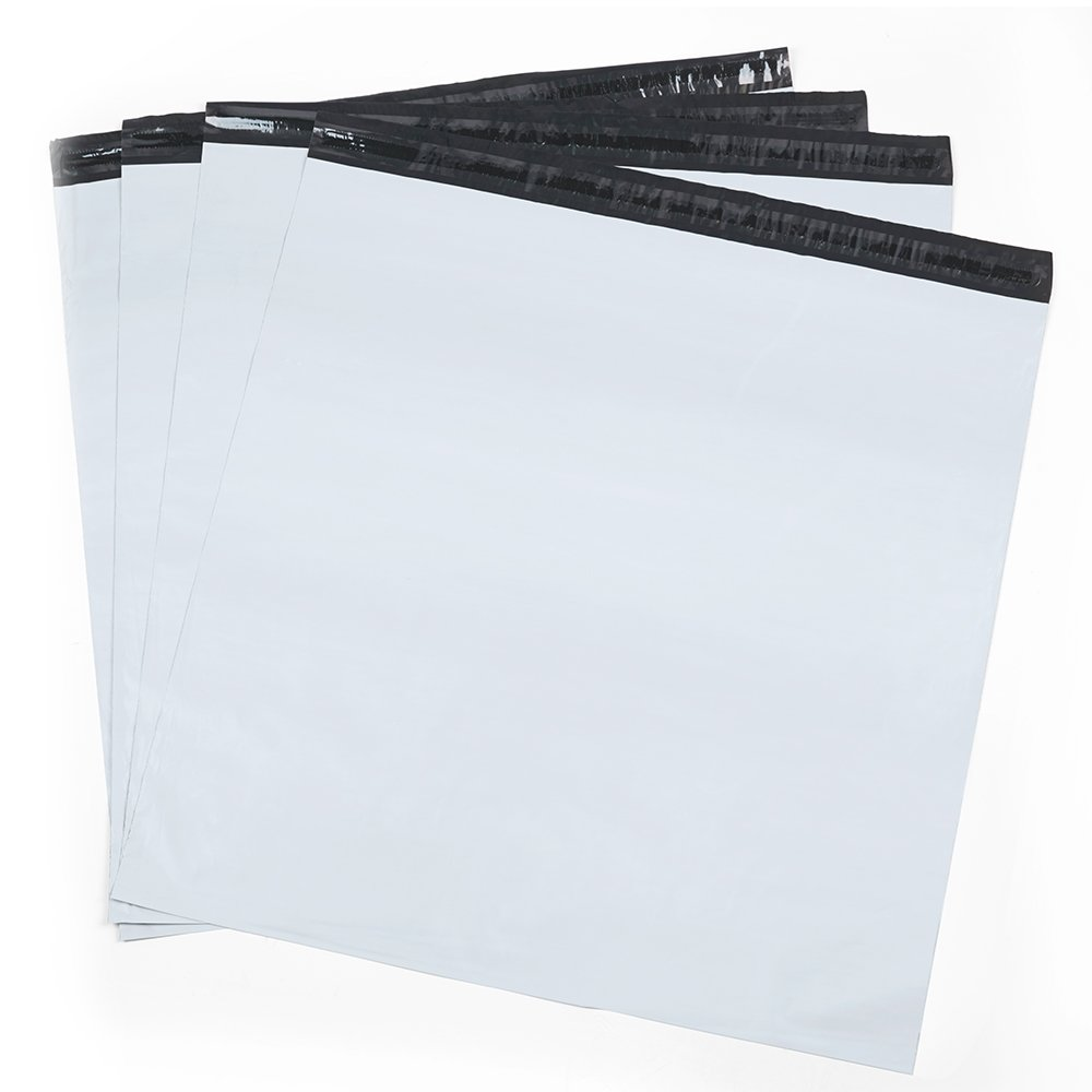 Metronic 100 pack 24x24 Shipping Bags White Poly Mailer with Self Adhesive, Waterproof and Tear-proof Postal Bags large mailing bags