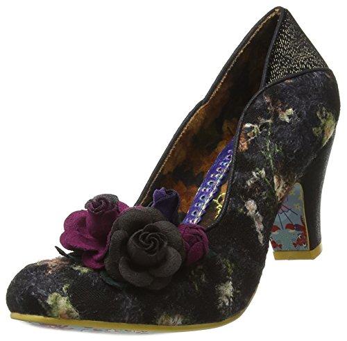 Irregular Choice - Zapatos de tacn con Punta Cerrada de Tela Mujer, Color Azul, Talla 41