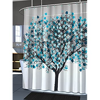 Great Splash Home EVA Shower Curtain, 70 By 72 Inch, Foliage Blue